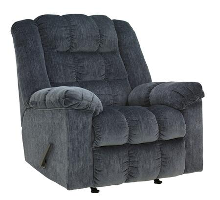 Milo Italia Kenley MI-7437ATMP Rocker Recliner with Plush Pillow Top Arms, Supportive Divided Back Cushion and Side Handle To Activate Reclining Mechanism in