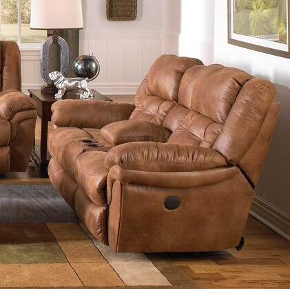 Catnapper 64259205129 Joyner Series Faux Leather Reclining with Metal Frame Loveseat
