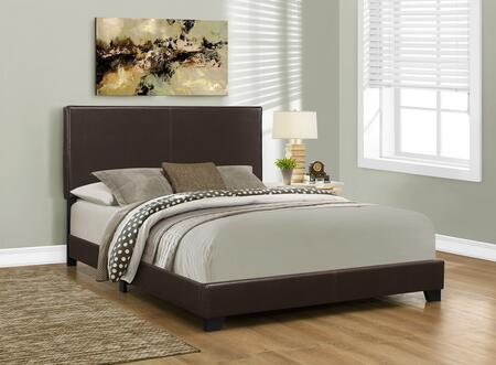 "Monarch I 591X 86"" Panel Bed with Upholstered Headboard, Side Rail and Contemporary Design"