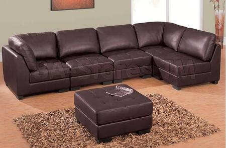Global Furniture USA U1953SECTIONAL  Leather Sofa