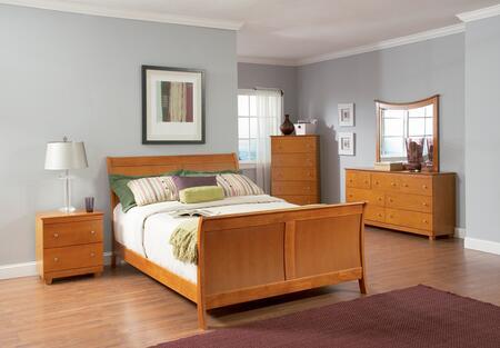 Atlantic Furniture BORMFAWQN Bordeaux Series  Bed