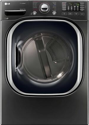 "LG DLEX4370x 27"" Ultra Large High Efficiency Electric Steam Dryer with 7.4 cu. ft. Capacity and SteamSanitary, in"