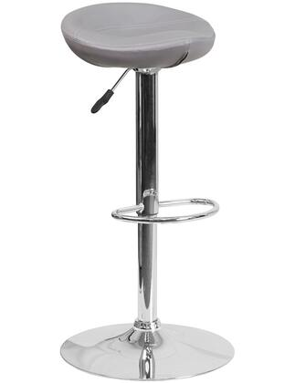 "Flash Furniture DS-8001 27""-36"" Vinyl Upholstered Barstool with Chrome Base, Adjustable Height, Swivel Seat and CA117 Fire Retardant Foam in"