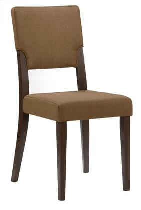 Chintaly LIDIASC Lidia Series Modern Fabric Wood Frame Dining Room Chair