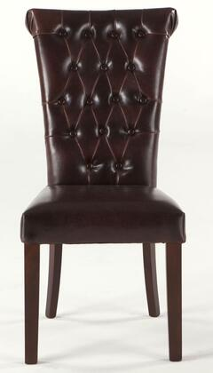 Home Trends & Design WAA111 Arabella Series Contemporary Leather Wood Frame Dining Room Chair