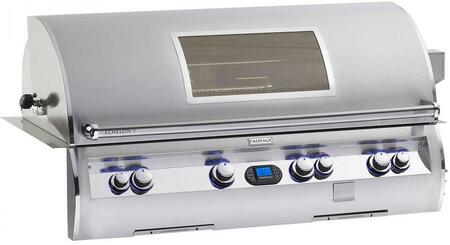 FireMagic E1060I-4L1X-W Echelon Diamond Series Built In X Grill, 1056 sq. in. Cooking Area with Ignition a Rotisserie Backburner and Left Burner and View Window: Stainless Steel