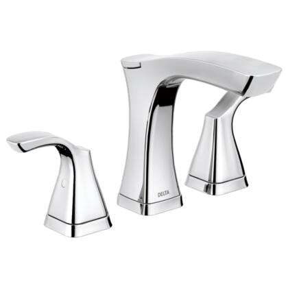 Tesla  3552-MPU-DST Delta Tesla: Two Handle Widespread Lavatory Faucet - Metal Pop-Up in Chrome