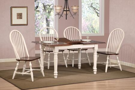 Sunset Trading DLUTLB3660C30AW5PC Andrews Dining Room Sets