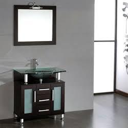 "Cambridge 8127X 32"" Solid Espresso Wood & Glass Single Basin Sink Vanity Set with One Faucet"
