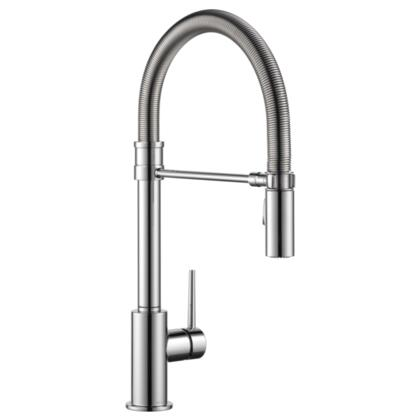 Trinsic  9659-DST Delta Trinsic: Single Handle Pull-Down Kitchen Faucet With Spring Spout in Chrome