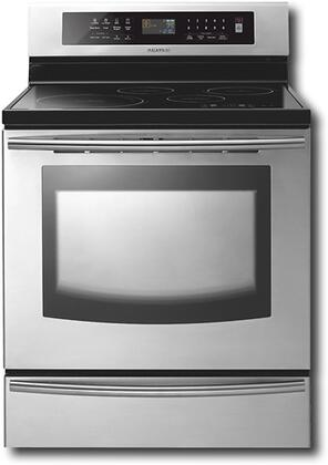 Samsung Appliance FTQ307NWGX  Electric Freestanding Range with Smoothtop Cooktop, 5.9 cu. ft. Primary Oven Capacity, Warming in Stainless Steel