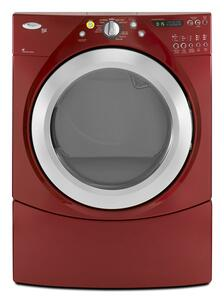 """Whirlpool WGD9450W Duet 27"""" Gas Dryer with 7.2 cu. ft. Capacity, 10 Drying Programs, Wrinkle Care and Quick Dry Cycles,"""