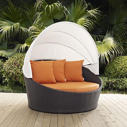 """Modway EEI2175EXPORA 63"""" Water Resistant Canopy Outdoor Bed"""