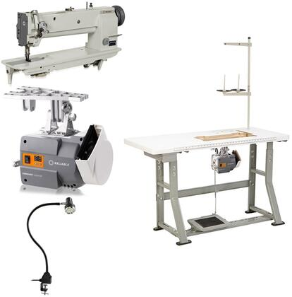 """Reliable 5400xW x Needle 18"""" Long Arm, Walking Foot Sewing Machine with 1800 RPM, 6000SM ServoMotor, UberLight 9000C SMD-LED Light and 100% Plywood Tabletop with 3/32"""" Steel K-Legs"""