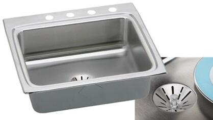 "Elkay LR2522PD Gourmet Perfect Drain Sink Stainless Steel 8 1/8"" Bowl Depth:"