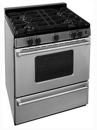"Premier P30 30"" Pro Series Gas Range with 4 Sealed Top Burners, Separate Broiler Compartment, 17,000 BTU Oven Burner and Interior Oven Light in Stainless Steel"