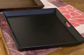 """Sunny Designs 2195XX 28"""" Ottoman Tray with 2 Handles and Wooden Construction in"""