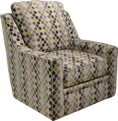 "Jackson Furniture Sutton Collection 722-21- 35"" Swivel Chair with Sloping Track Arms, Chenille Fabric Upholstery and Extra Thick Seat Cushion in"