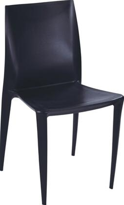 Fine Mod Imports FMI2015BLACK modern/contemporary Not Upholstered ABS Frame Dining Room Chair