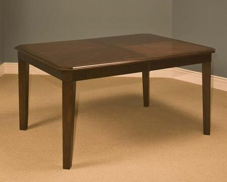 """New Classic Home Furnishings 40-150-11 Latitudes 42"""" Cut Corner Dining Table with Tapered Legs, Apron, Extension Leaf, Hardwood Solids and Veneers, in"""