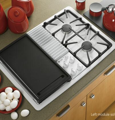 Ge Profile Pgp990denww Gas Modular Style Cooktop In White