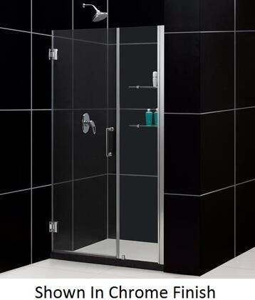 DreamLine SHDR-20427210CS Unidoor Frameless Hinged Shower Door With Reversible For Right or Left Door Opening, Self-Closing Solid Brass Wall Mounted Hinges (5 Degree Offset) & In