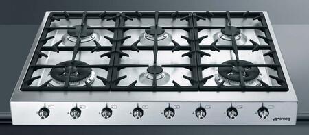 "Smeg HB96CXU3 36"" Gas Sealed Burner Style Cooktop"