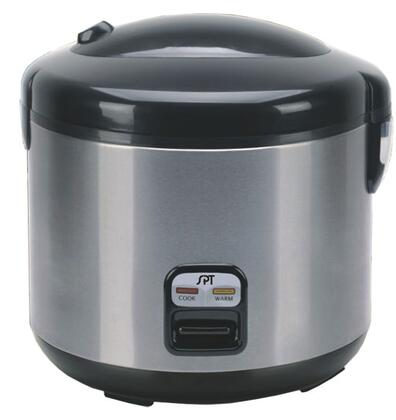 Sunpentown SC-1202 6 Cups Rice Cooker With Stainless Body, Easy One-Button Operation, Cool Touch Exterior, Safety Lock Button & 3-Dimensional Heating