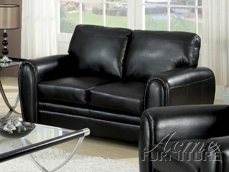Acme Furniture 15246 Amber Series Bonded Leather Stationary with Wood Frame Loveseat