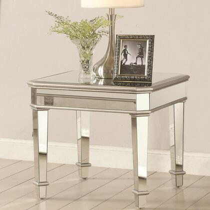Coaster 703937 Glass Top Occasional Tables Series Contemporary Wood Rectangular None Drawers End Table