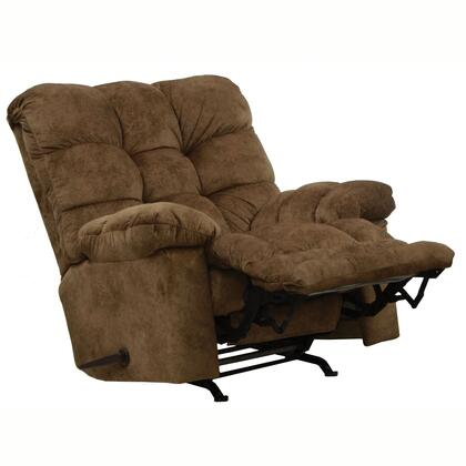 "Catnapper Bronson Collection 46"" Chaise Rocker Recliner with Oversized X-tra Comfort Footrest, Biscuit Back Design, Coil Seating and Ultra Plush Suede Fabric Upholstery"