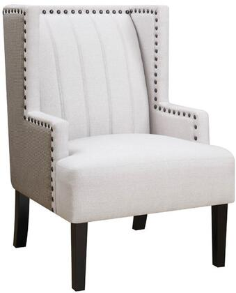 Donny Osmond Home 905132 Madeleine II Series Armchair Fabric Wood Frame Accent Chair