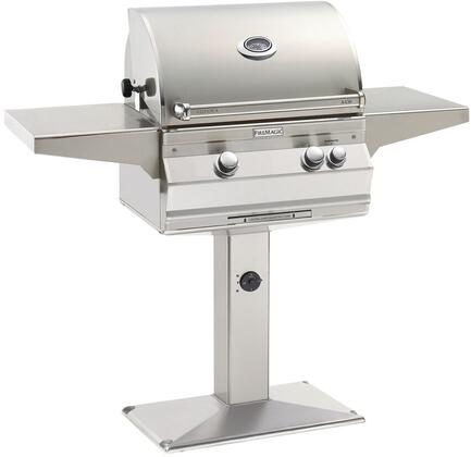 "FireMagic A430S6EAxP6 56"" Patio Post Mount Grill With 432 sq. Inches Cooking Surface, 192 sq. Inches Warming Rack Surface, Rotisserie, 50000 BTU Main Burner, Hot Surface Ignition, Analog Thermometer, in Stainless Steel"