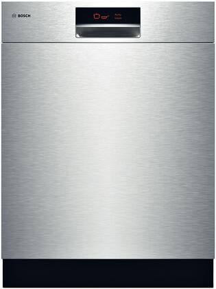 """Bosch SHE9ER55UC 24"""" 800 Plus Series Built-In Semi-Integrated Dishwasher 
