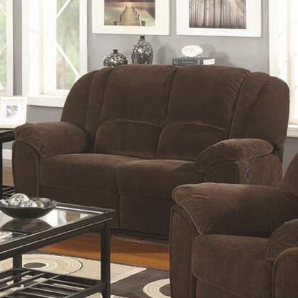 Coaster 600582 Microfiber Stationary with Wood Frame Loveseat
