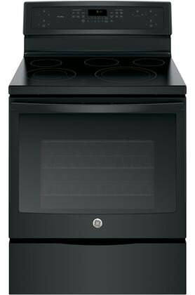 "GE Profile PB911 30"" Freestanding Electric Range with 5.3 cu. ft. Capacity, 5 Cooking Elements, Edge-To-Edge Cooktop, Convection, Self-Clean and Electronic Touch Controls, in"