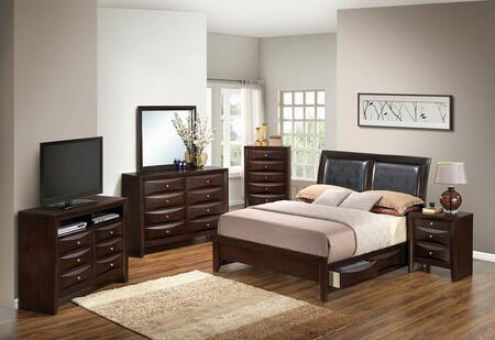 Glory Furniture G1525DDKSB2DMNCHTV2 G1525 King Bedroom Sets