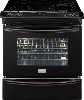"Frigidaire FGES3065KB 30"" Gallery Series Slide-in Electric Range with Smoothtop Cooktop Warming 4.2 cu. ft. Primary Oven Capacity"