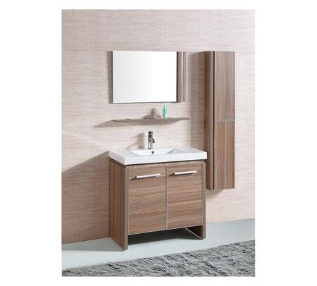Legion Furniture WTH0932X Sink Vanity With Mirror and Side Cabinet
