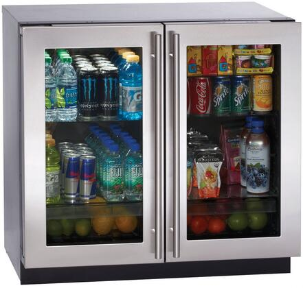 """U-Line 3036RRGL Modular 3000 Series 36"""" 7.1 cu. ft. Glass Door Refrigerator With Front Adjustable Rear Leveling Legs, Refrigeration Capacity Of 7.1 Cubic Feet & Digital Controlled Convection Cooling"""