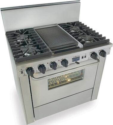 """FiveStar TPN3377BW 36"""" Dual Fuel Freestanding Range with Sealed Burner Cooktop, 3.69 cu. ft. Primary Oven Capacity, in Stainless Steel"""