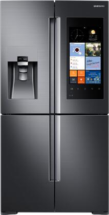 """Samsung RF22K9581 36"""" Energy Star, Counter Depth French Door Refrigerator with 22.1 cu. ft. Capacity, 4 Doors, LCD Touchscreen Family Hub, Wifi Enabled, Water and Ice Dispenser:"""