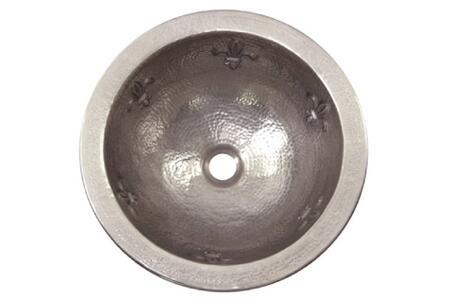 "Houzer HWFAMXRF Hammerwerks 15"" Undermount Single Bowl Fleur-Di-Lis Bathroom Sink:"