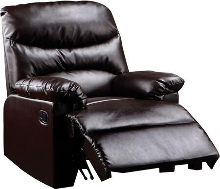 Acme Furniture 5901 Arcadia Recliner with Plush Padded Pillow Arms, Split Back Cushion and PU Upholstery in