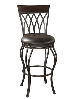 American Heritage 134915PP Palermo Series Residential Leather Upholstered Bar Stool