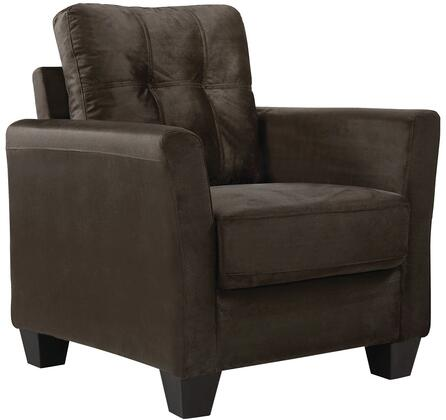 "Glory Furniture G560 Collection 39"" Armchair with Removable Back, Pocketed Coil Seating, Tufted Back, Track Arms, Tapered Legs and Microsuede Upholstery in"