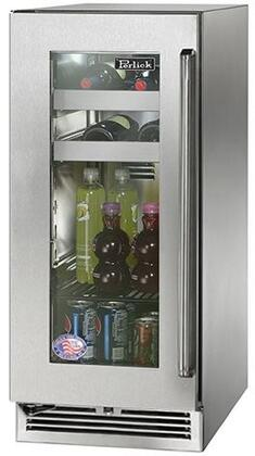 "Perlick HP15BO33xC 15"" Signature Series Outdoor Beverage Center with Rapidcool Forced Air Refrigeration System, Stainless Steel Interior and Commercial-Grade 525 BTU Variable-Speed Compressor, in Stainless Steel with"