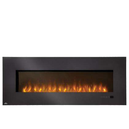 Napoleon EFLXXH XX Slimline Wall-Mount Electric Fireplace With 5000 BTUs / 1500 Watts Heating Capacity, Linear Glass Front, Glass Ember Bed, Touch Screen Electronic Control Panel, In Black