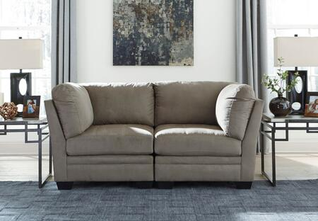 Milo Italia Madalyn 6510X-51(2) 2-Piece Modular Fabric Sectional Sofa with 2 Corner Chairs, Tufted Cushions and Stitching Details in