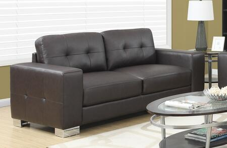 "Monarch I 8223XX 82"" Sofa with Square Arms, Removable Cushions and Bonded Leather"